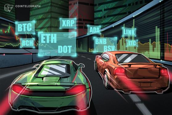 ETHやXRPなどアルトコインに循環 仮想通貨チャート分析:ビットコイン・イーサ・XRP(リップル)・ビットコインキャッシュ・ライトコイン